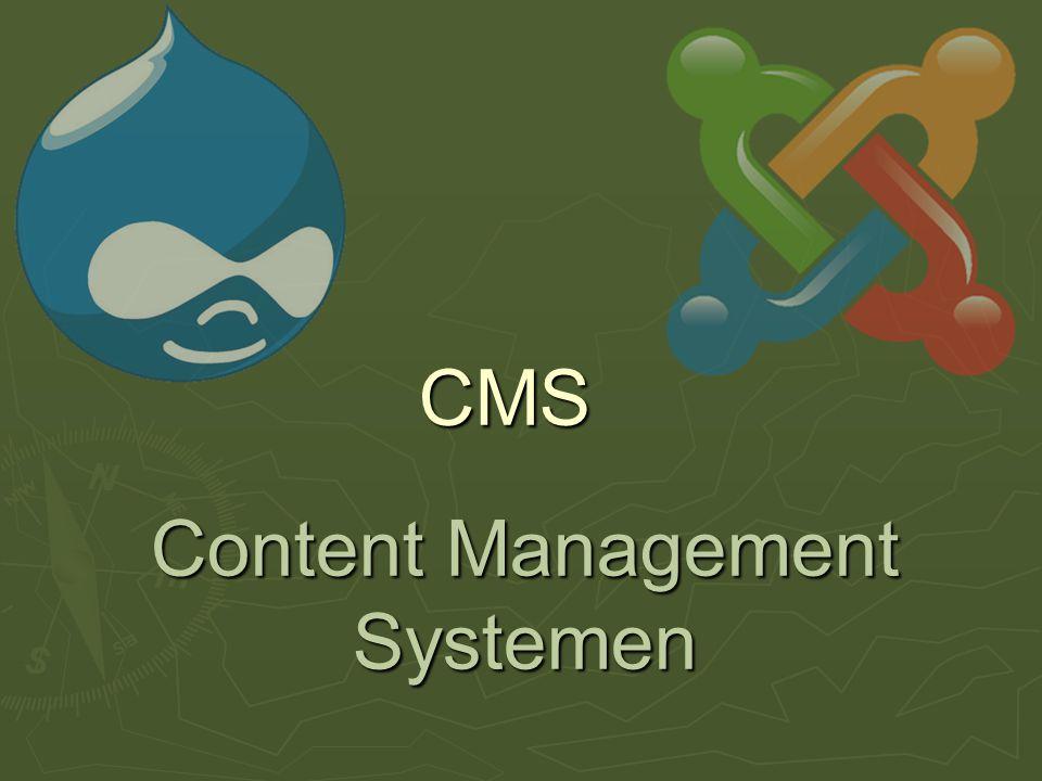 CMS: wat het is  Website vanuit database met:  Teksten, beelden  Gebruikers  Beheerders  Redacteurs/journalisten  Gebruikers (lezers, kijkers)  Rubrieken (categorieën - navigatie)