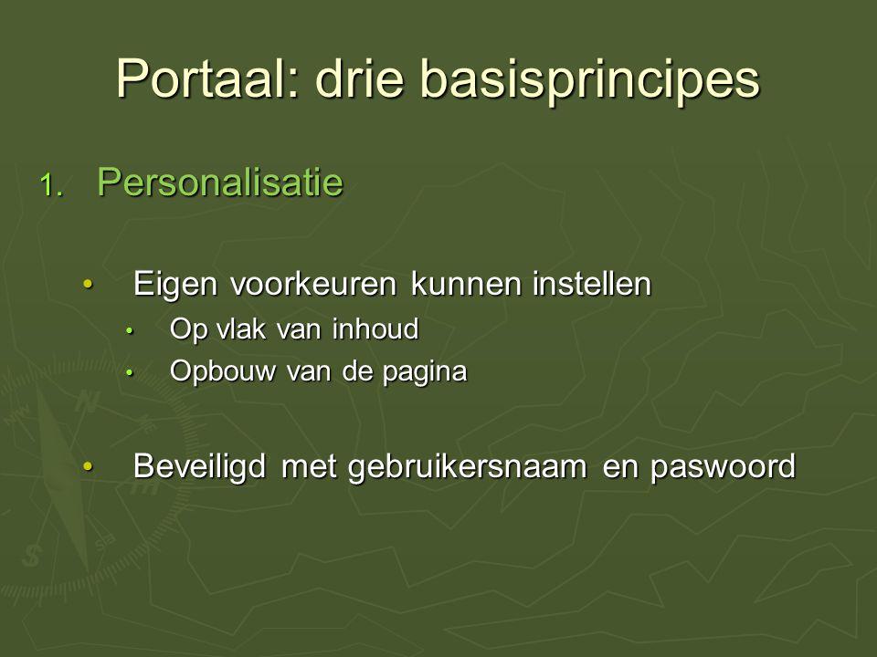 Portaal: drie basisprincipes 1.