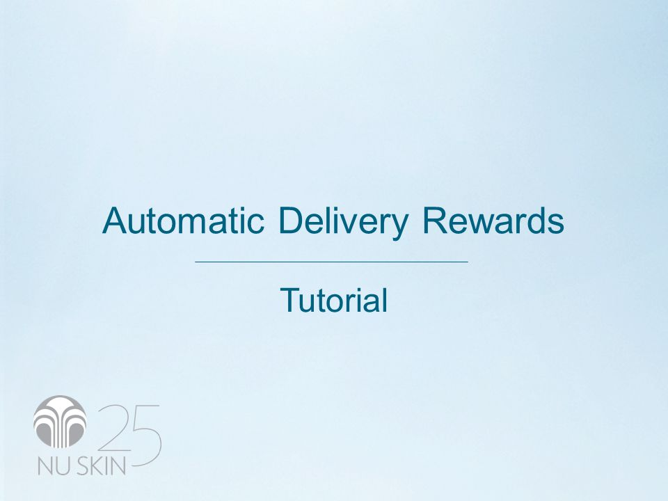 Automatic Delivery Rewards Tutorial