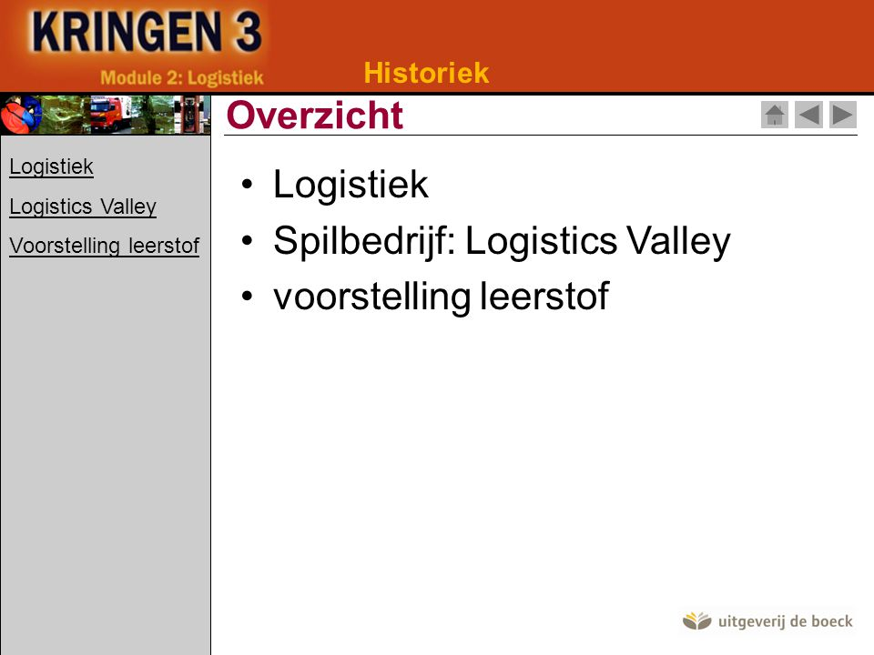 Historiek 19de eeuw Industrialisering Historiek logistiek Logistiek Logistics Valley Voorstelling leerstof