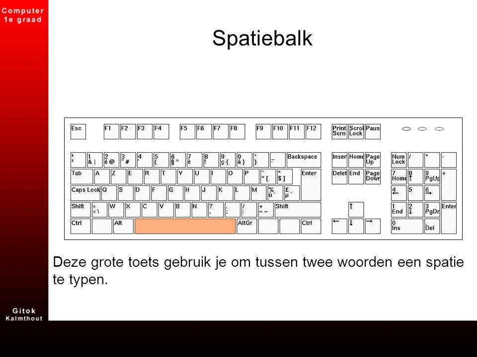NumLock Deze toets activeert het nummerblok rechts op je toetsenbord.