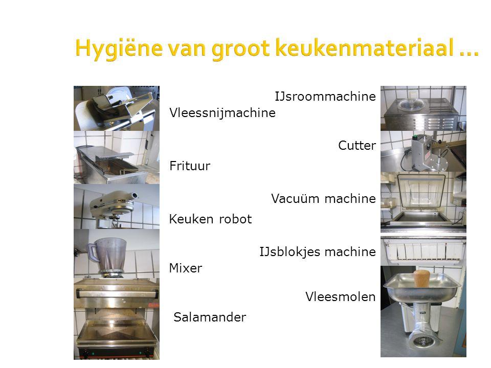 Hygiëne van groot keukenmateriaal... Salamander Vacuüm machine Vleessnijmachine Frituur IJsroommachine Cutter Keuken robot Mixer IJsblokjes machine Vl