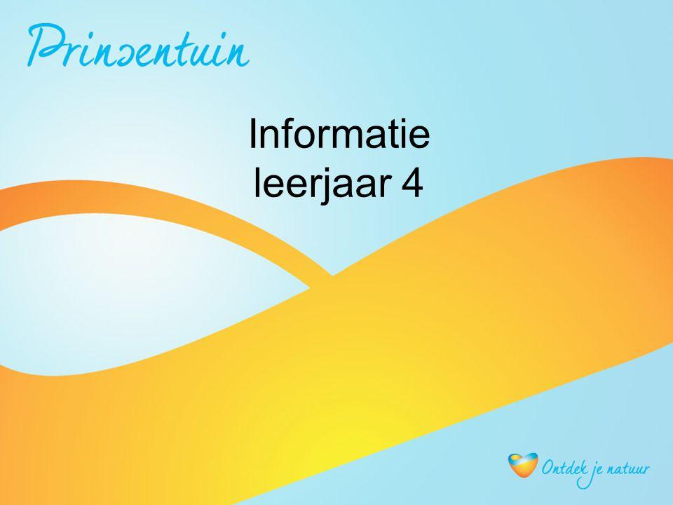 Informatie leerjaar 4