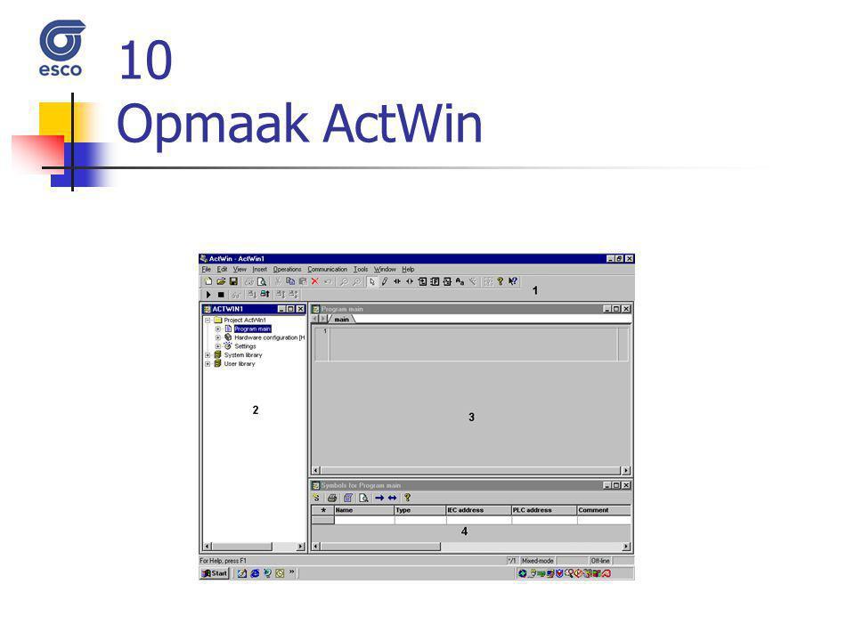 10 Opmaak ActWin
