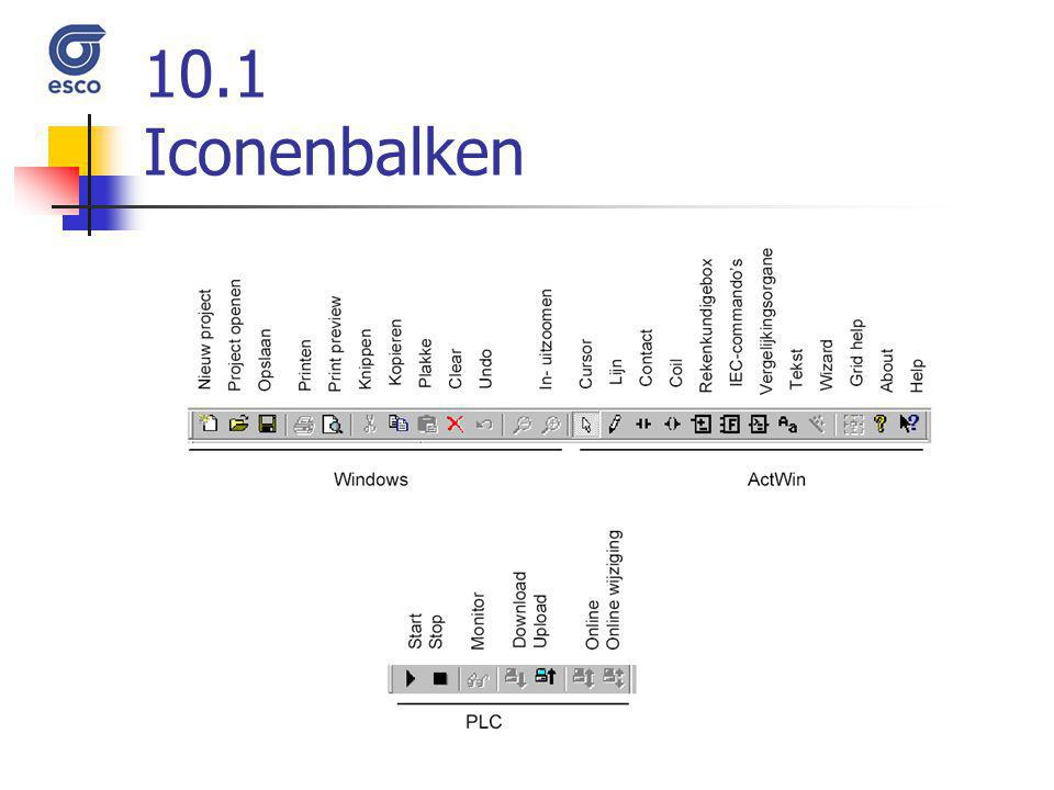 10.1 Iconenbalken