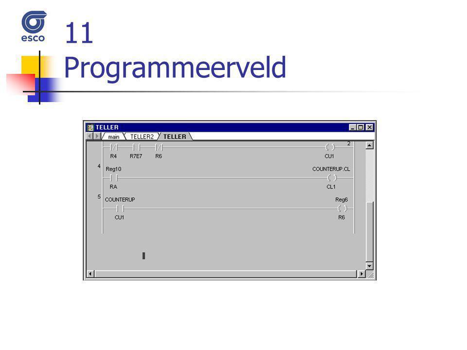 11 Programmeerveld
