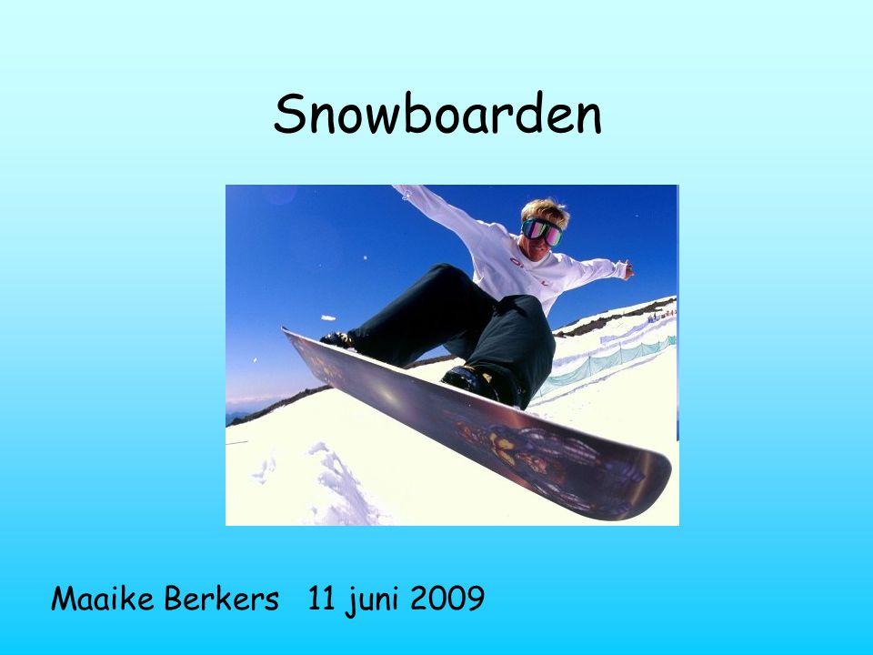 Snowboarden Maaike Berkers 11 juni 2009