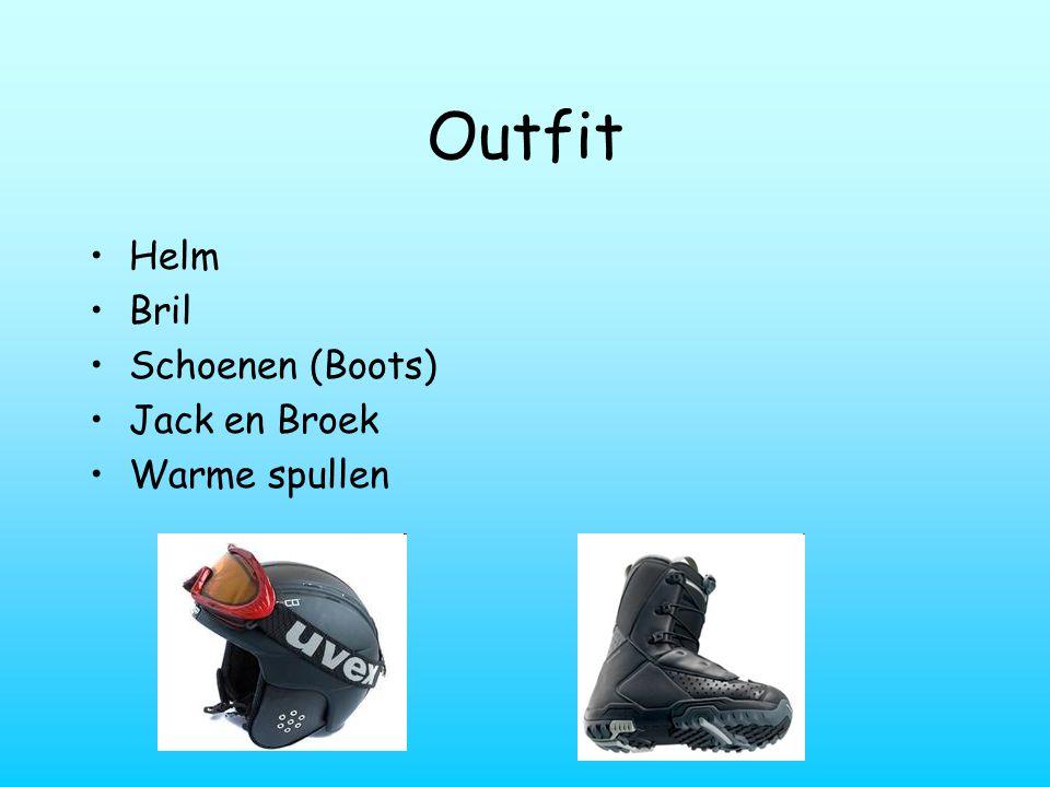 Outfit Helm Bril Schoenen (Boots) Jack en Broek Warme spullen