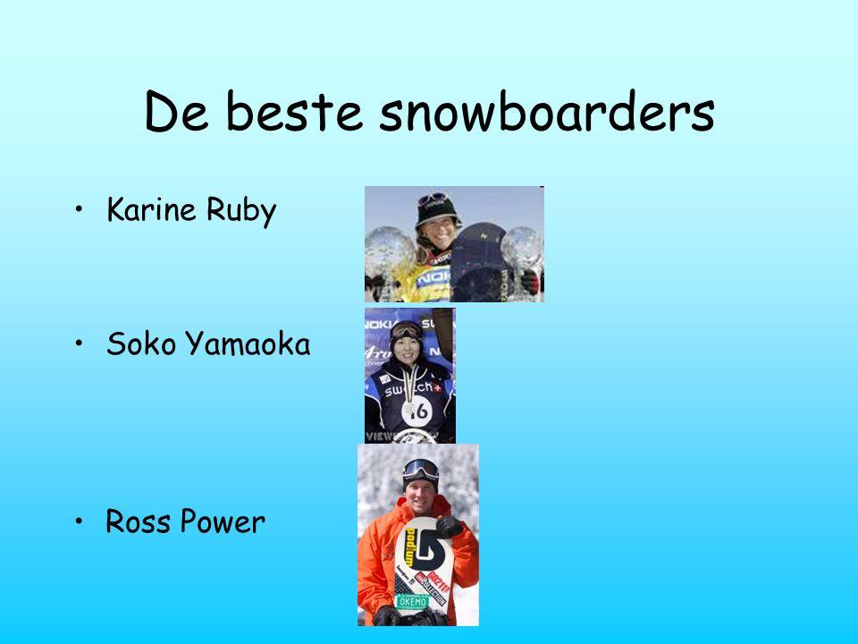 De beste snowboarders Karine Ruby Soko Yamaoka Ross Power