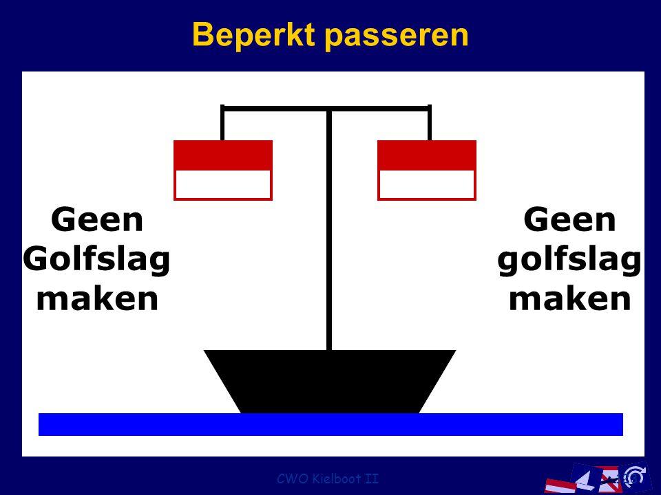 CWO Kielboot II123 Beperkt passeren Geen golfslag maken Geen Golfslag maken