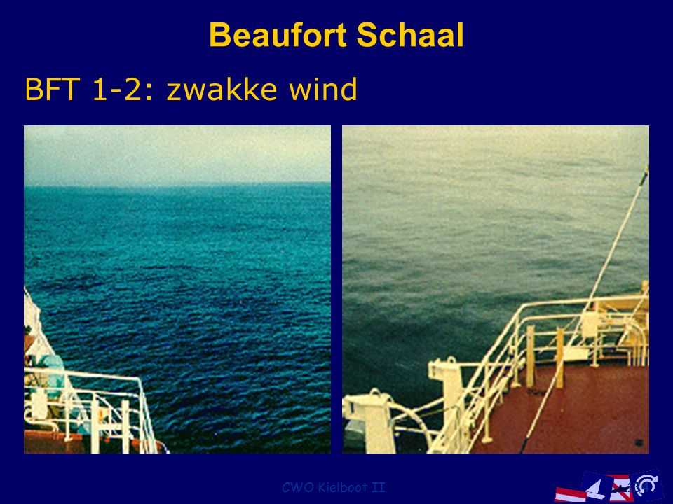 CWO Kielboot II134 Beaufort Schaal BFT 1-2: zwakke wind