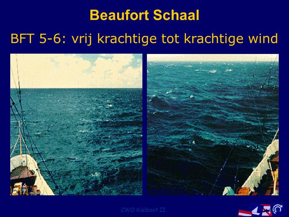 CWO Kielboot II136 Beaufort Schaal BFT 5-6: vrij krachtige tot krachtige wind