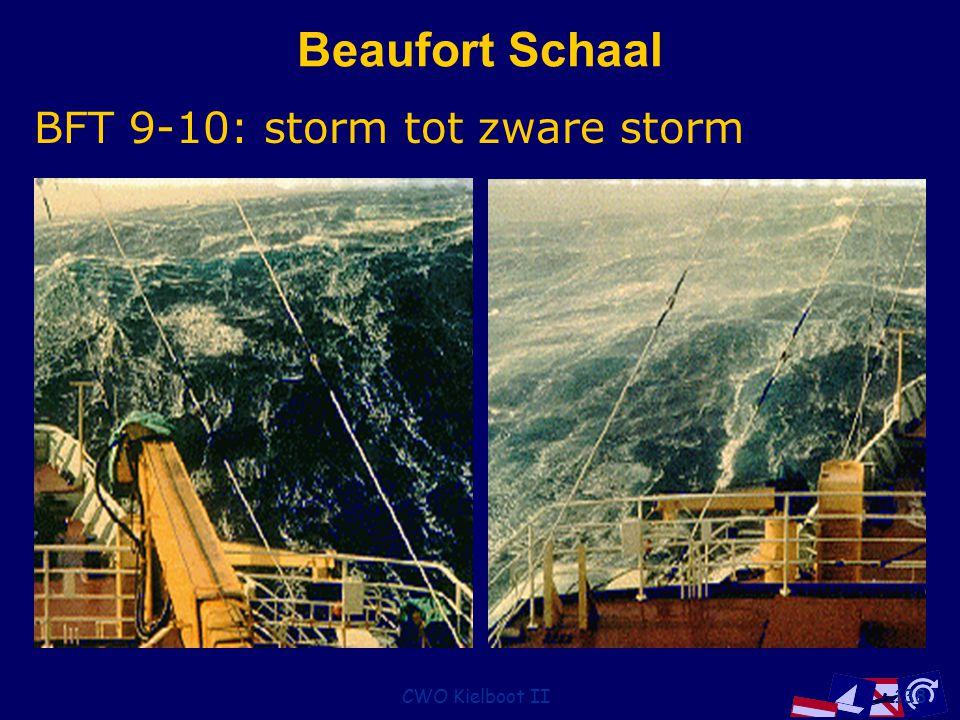 CWO Kielboot II138 Beaufort Schaal BFT 9-10: storm tot zware storm