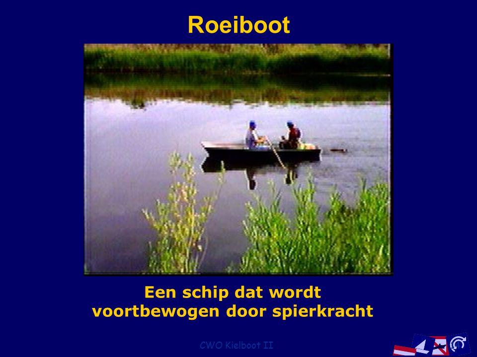 CWO Kielboot II14 Roeiboot Een schip dat wordt voortbewogen door spierkracht