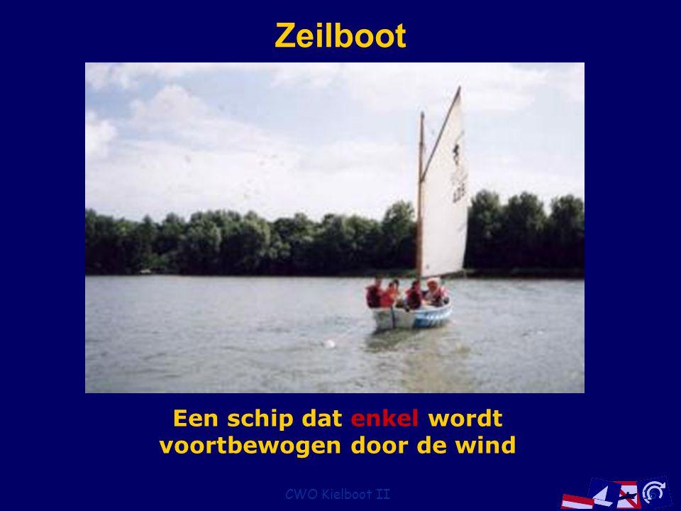 CWO Kielboot II16 Zeilboot Een schip dat enkel wordt voortbewogen door de wind
