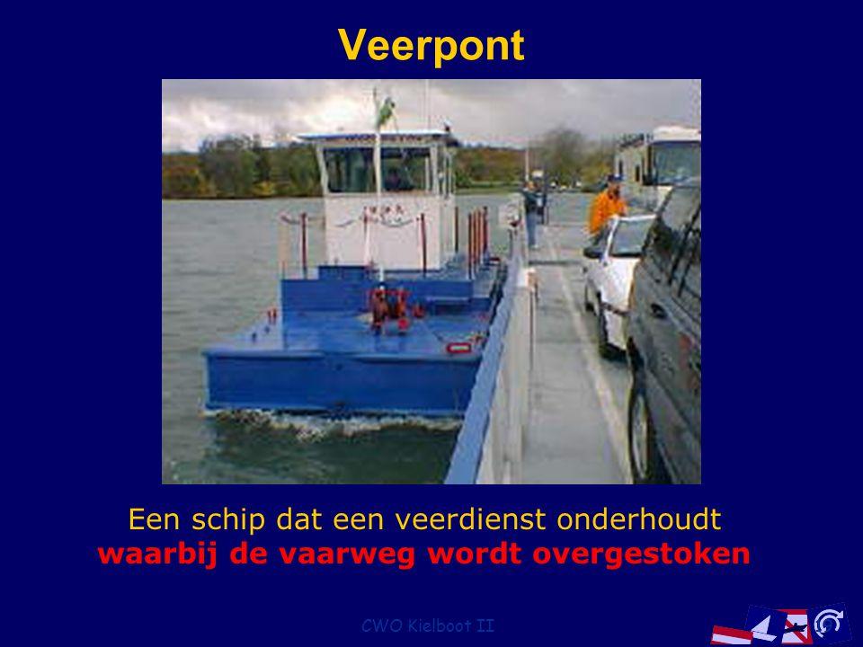 CWO Kielboot II19 Veerpont Een schip dat een veerdienst onderhoudt waarbij de vaarweg wordt overgestoken