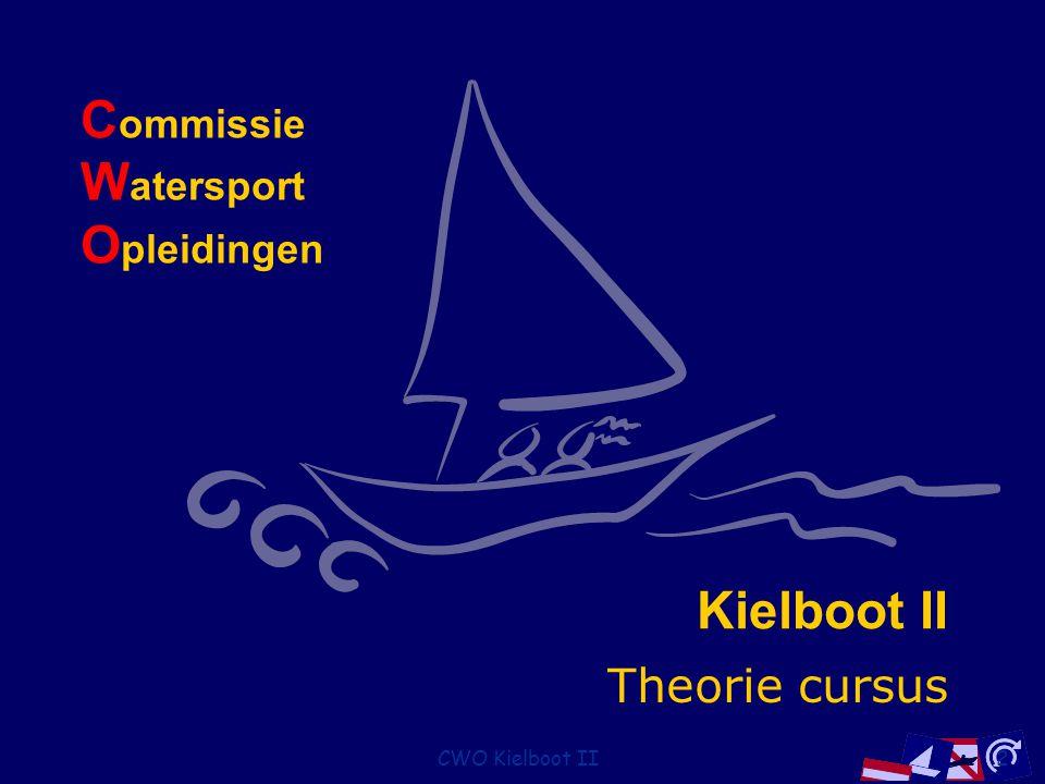 CWO Kielboot II113 Lichten op stuurboord Groot zeilschip Klein zeilschip groter dan 7 m