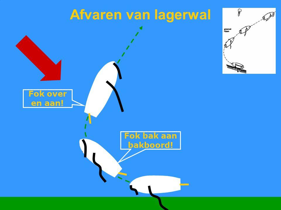 CWO Kielboot II73 Afvaren van lagerwal Fok over en aan! Fok bak aan bakboord!