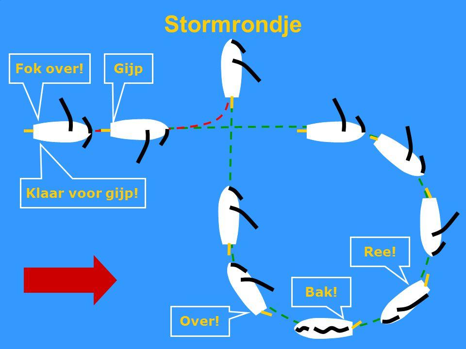 CWO Kielboot II77 Stormrondje Ree! Bak! Over! Klaar voor gijp! Fok over!Gijp