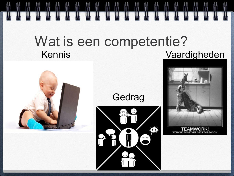 Wat is een competentie? KennisVaardigheden Gedrag