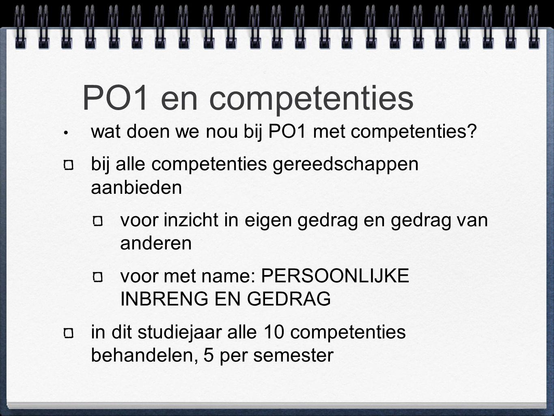 PO1 en competenties wat doen we nou bij PO1 met competenties.