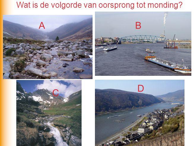 Stroomgebied van de rivieren is steeds meer versteend A B Neerslag Welke situatie is van vóór de verstedelijking en waarom.