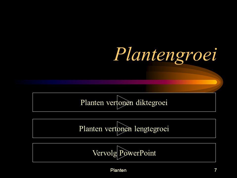 Planten6 Groeiende delen van een plant