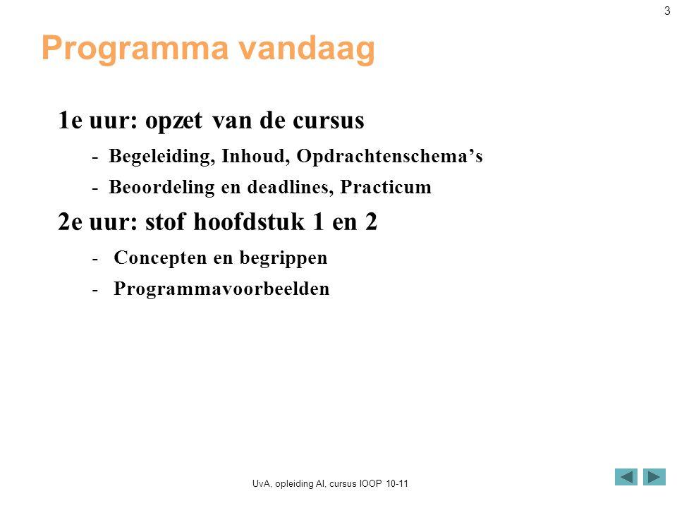 UvA, opleiding AI, cursus IOOP 10-11 24 Figuur 2.3 Welcome2.java