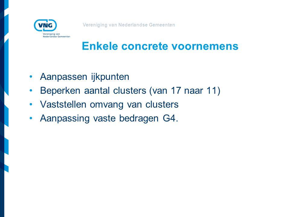 Vereniging van Nederlandse Gemeenten Relatie ontvangsten – uitgaven gemeentefonds Verdeelformules: niet alleen de omvang van het gemeentefonds ook een deel van de eigen inkomsten van gemeenten (OZB en OEM) wordt meegenomen Feitelijke eigen inkomsten van gemeenten: ca.