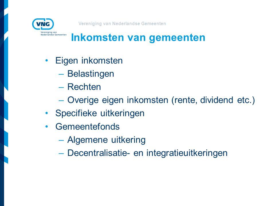 Vereniging van Nederlandse Gemeenten Gemeentefonds Geldstroom van het Rijk naar gemeenten Onderdelen: Algemene uitkering (AU) Decentralisatie/integratieuitkeringen (DU/IU) Omvang GF 2013 € 17,8 mrd.