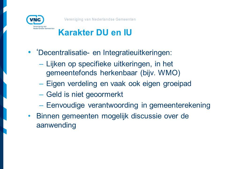 Vereniging van Nederlandse Gemeenten Onderdelen gemeentefonds 2013