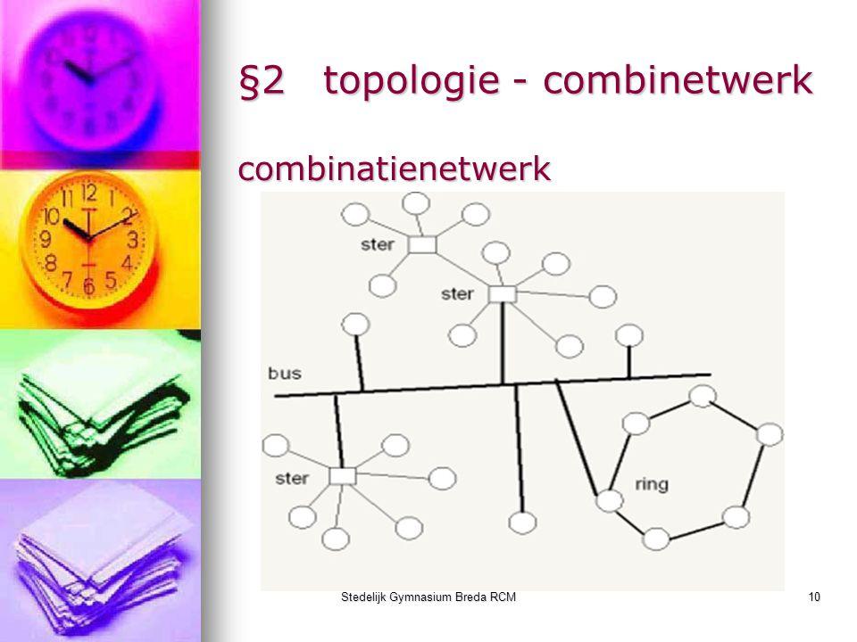 Stedelijk Gymnasium Breda RCM10 §2topologie - combinetwerk combinatienetwerk