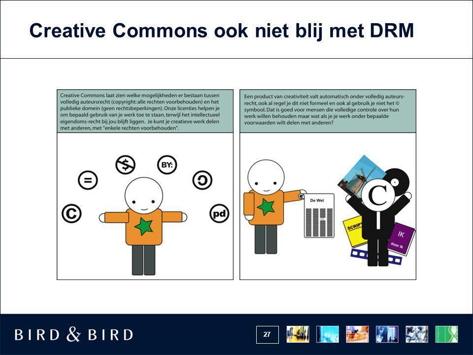 27 Creative Commons ook niet blij met DRM