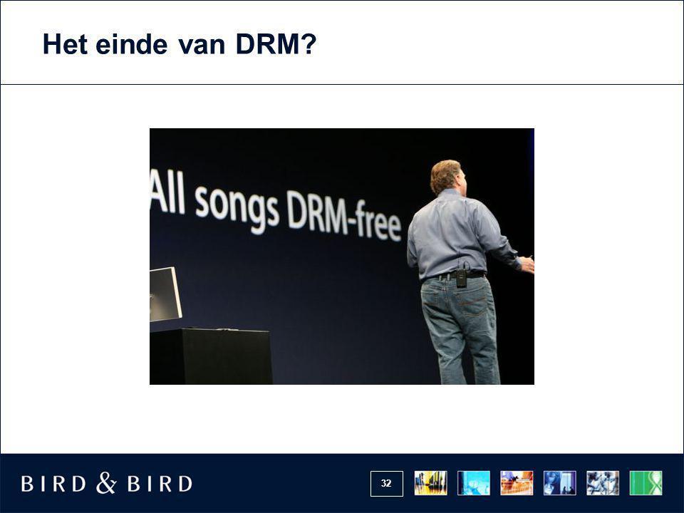 32 Het einde van DRM?