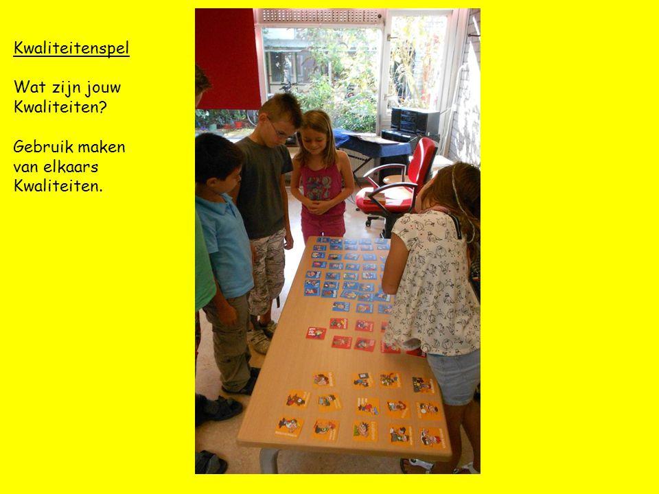 Kwaliteitenspel Wat zijn jouw Kwaliteiten? Gebruik maken van elkaars Kwaliteiten.