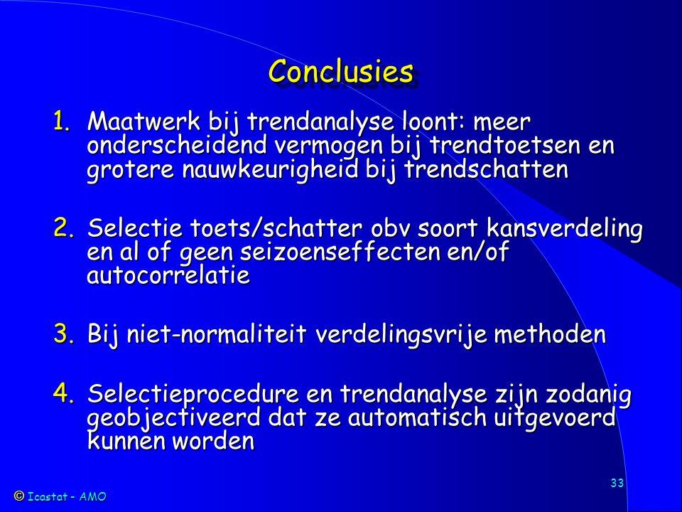 Icastat - AMO Icastat - AMO 33 ConclusiesConclusies 1.