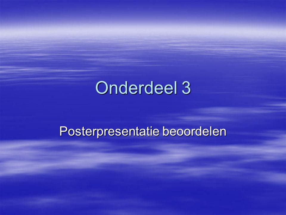 Onderdeel 3 Posterpresentatie beoordelen