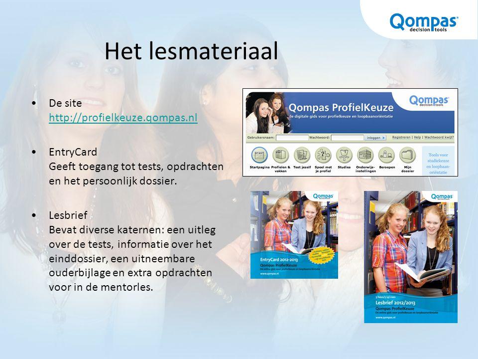 Qompas DecanenNet Via dit volgsysteem hebben decaan/mentor eenvoudig inzicht in de vorderingen van de leerlingen: –Het stappenplan –De extra opdrachten –De bewaarmap –Het einddossier –Het gekozen profiel
