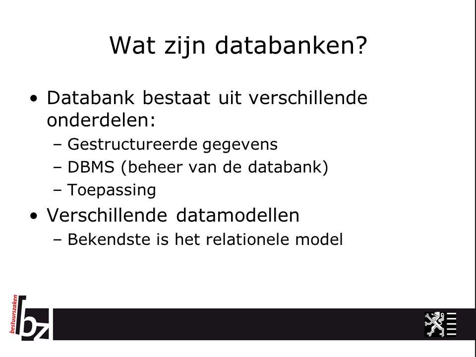 Wat zijn databanken.