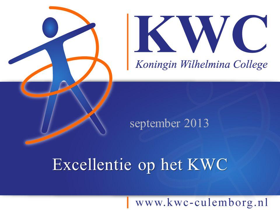 september 2013 Excellentie op het KWC