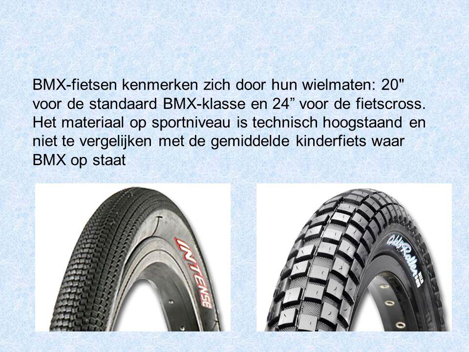 BMX-fietsen kenmerken zich door hun wielmaten: 20