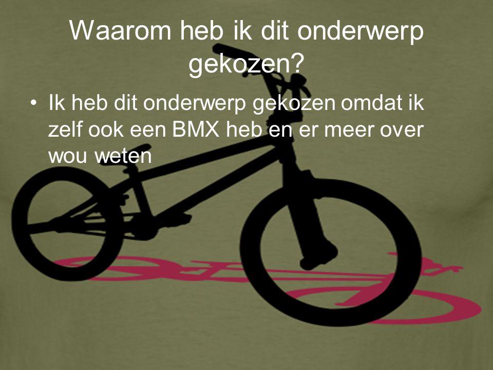 Wat is BMX.Het woord BMX staat voor Bicycle Motocross (de X staat dus voor cross).