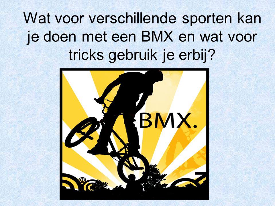BMX Race Dit is een wedstrijd op snelheid met acht rijders op 1 baan met start en finish.