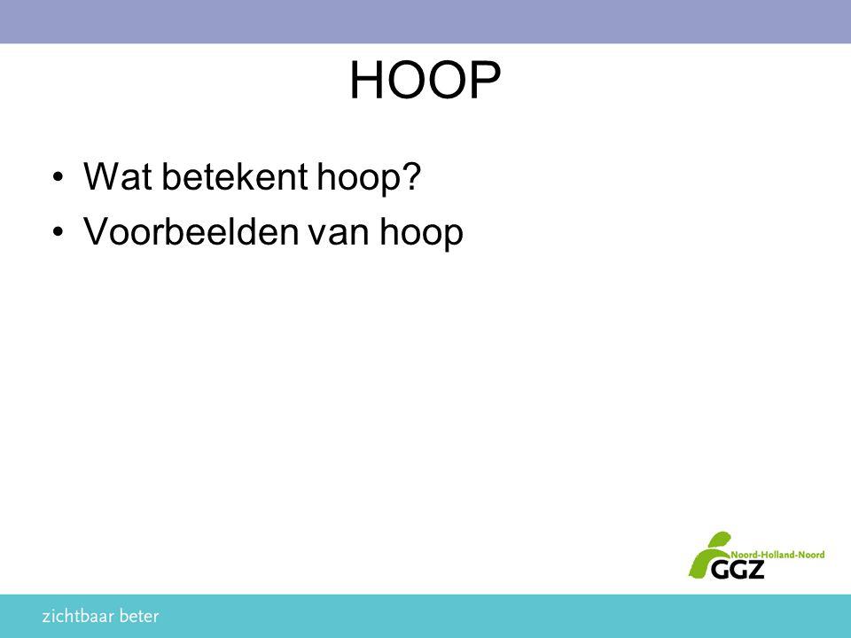 HOOP Wat betekent hoop? Voorbeelden van hoop