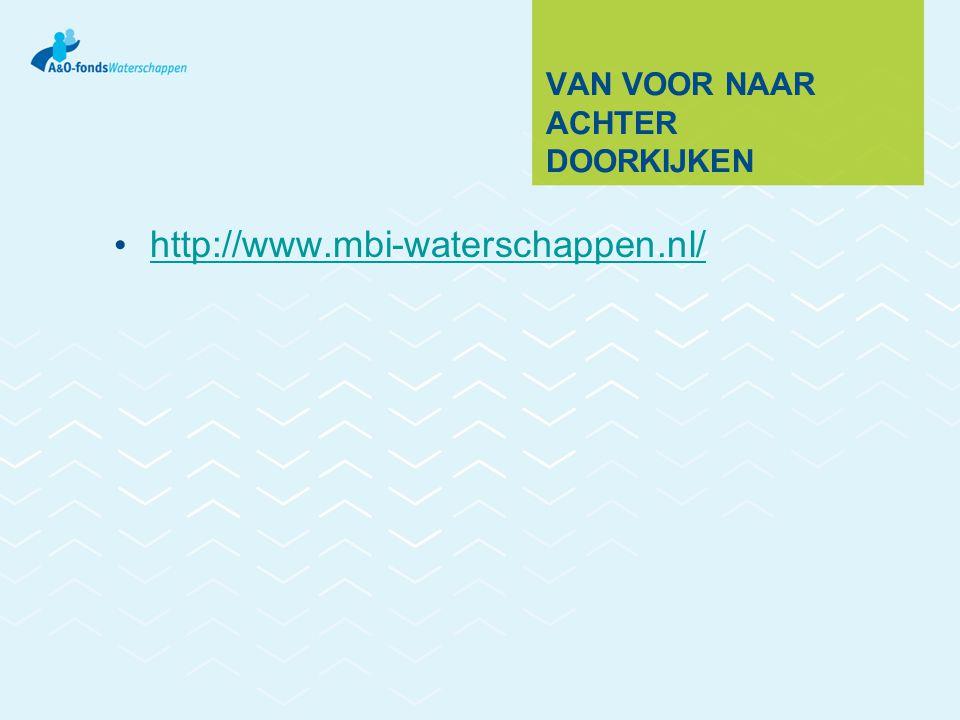 VAN VOOR NAAR ACHTER DOORKIJKEN http://www.mbi-waterschappen.nl/
