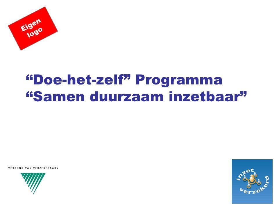 """""""Doe-het-zelf"""" Programma """"Samen duurzaam inzetbaar"""" Eigen logo"""