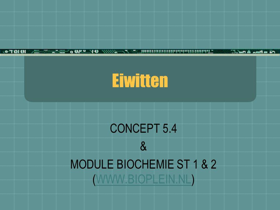 Eiwitten CONCEPT 5.4 & MODULE BIOCHEMIE ST 1 & 2 (WWW.BIOPLEIN.NL)WWW.BIOPLEIN.NL