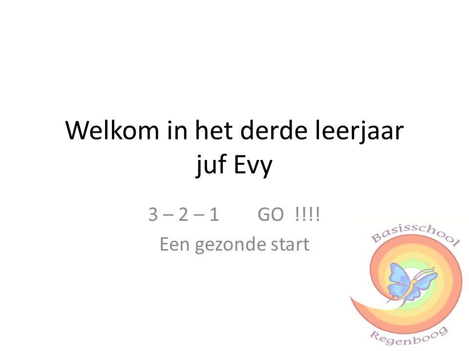 Welkom in het derde leerjaar juf Evy 3 – 2 – 1 GO !!!! Een gezonde start
