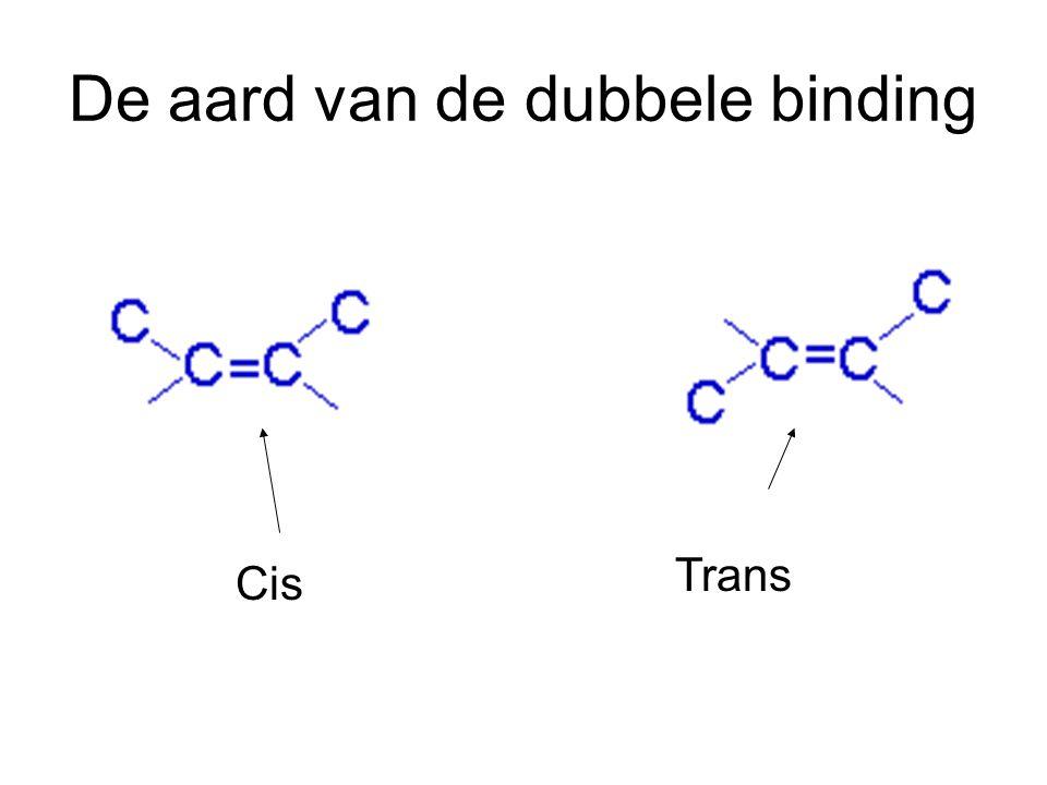 De aard van de dubbele binding Cis Trans