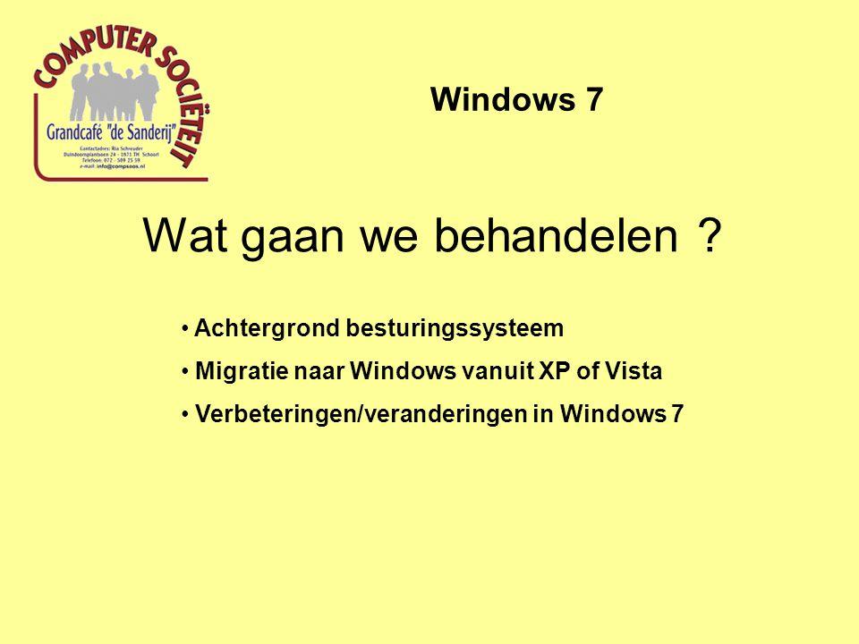 Windows 7 Achtergrond besturingssysteem BIOS besturingssysteem registerdriversGUIprocessen applicaties utilitieslibrariespakettenindividuele appl.